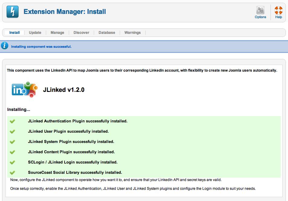 JLinked установка и создание приложения для Joomla