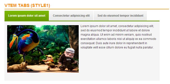 Модуль Vtem Tabs для Joomla - отображение содержимого во вкладках